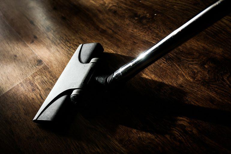 Vacuum on hardwood floor